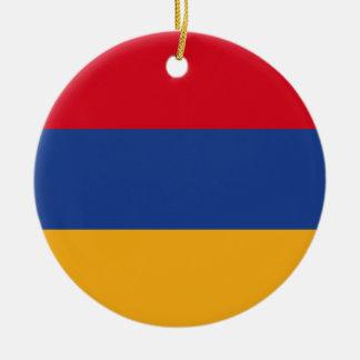 Armenian flag round ceramic ornament