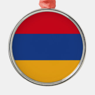 Armenian flag Silver-Colored round ornament