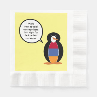 Armenian Flag Talking Penguin Disposable Napkin