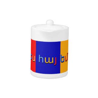 Armenian Flag Teapot 2