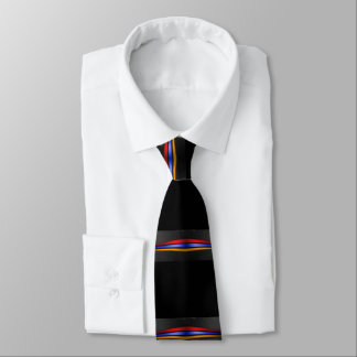 Armenian Flag Tie on Black Եռագույն 2