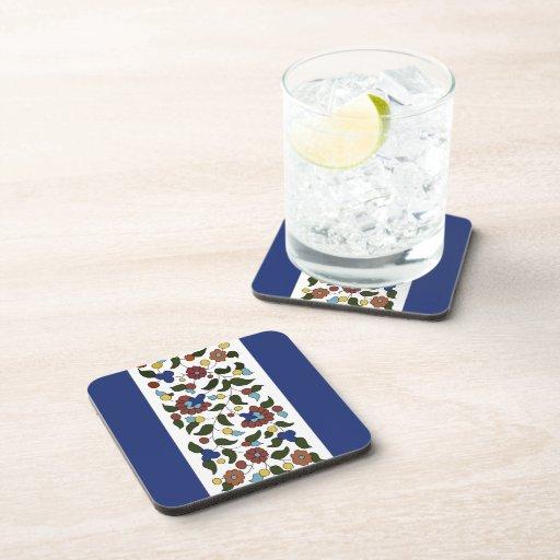 Armenian Floral Pattern Drink Coasters Zazzle