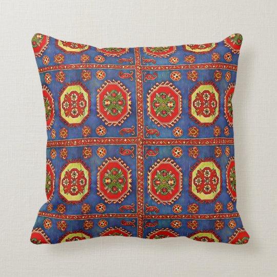 Armenian Folk Art Polyester Throw Pillow  7