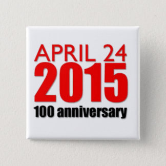 armenian genocide 1915 2 inch square button