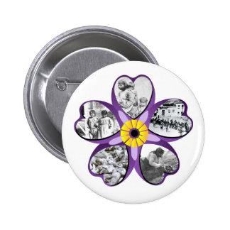 Armenian Genocide Flower Round Button 2