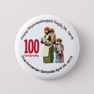 Armenian Genocide Memorial Round Button