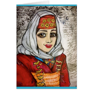 Armenian Girl Card