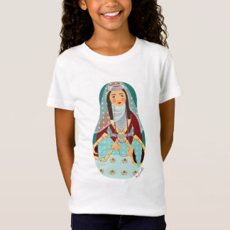 Armenian Girl Matryoshka Girls Baby Doll (Fitted) T-Shirt
