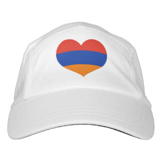 Armenian Heart |Custom Knit Performance Hat, White Hat