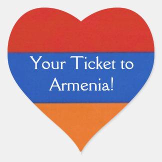 Armenian Heart   Stickers to Seal Envelope
