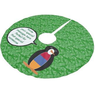 Armenian Holiday Mr. Penguin Brushed Polyester Tree Skirt