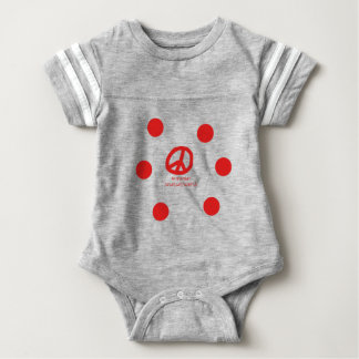 Armenian Language and Peace Symbol Design Baby Bodysuit