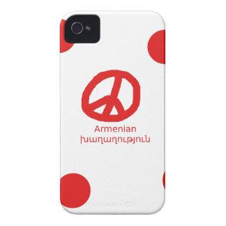Armenian Language and Peace Symbol Design Case-Mate iPhone 4 Case