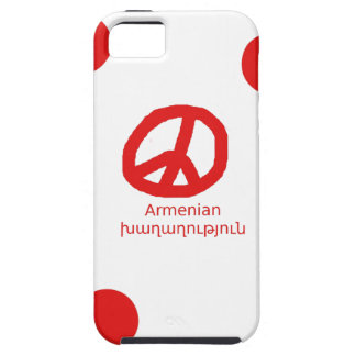 Armenian Language and Peace Symbol Design iPhone 5 Case
