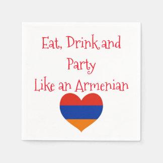 Armenian Party | Cocktail Paper Napkins - 2 Sets