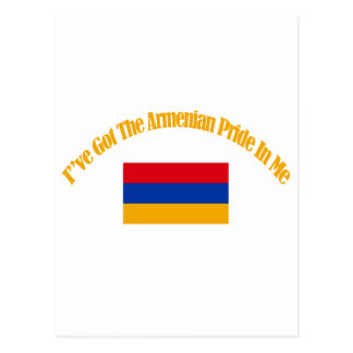 Armenian patriotic flag designs postcard