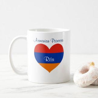Armenian Princess | Add Name| Heart Mug