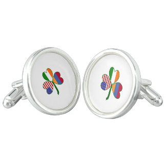 Armenian Shamrock Flag Cufflinks