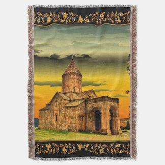 Armenian Tatev monastery Throw Blanket  Տաթևի վանք