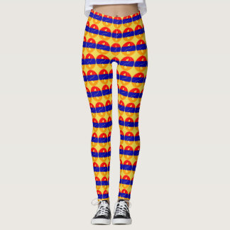 Armenian Tricolour Yin Yang Leggings