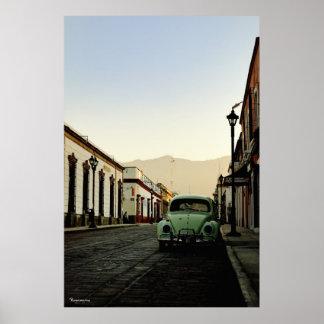 Armenta y Lopez street Oaxaca. Poster
