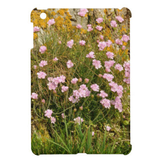 Armeria maritima pink sea growing on a cliff iPad mini cases
