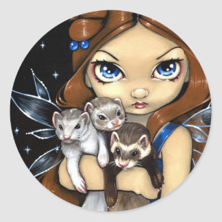 """Armful of Ferrets"" Sticker"