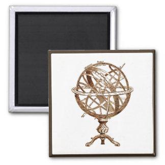Armillary Celestial Sphere Vintage Sepia Magnet