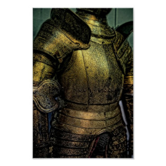 Armor of Medieval Knight Poster