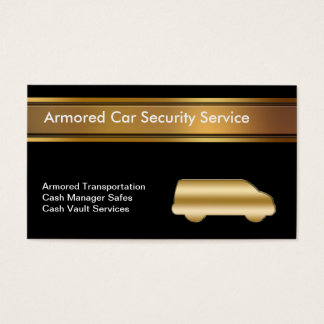 Armored Car Business Cards