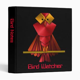 Armored Owl Watching a Bird Watcher 3 Ring Binder