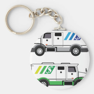 Armored security Vehicle Basic Round Button Keychain