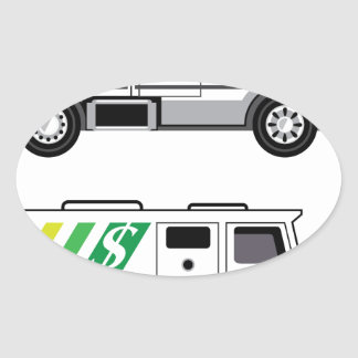 Armored security Vehicle Oval Sticker
