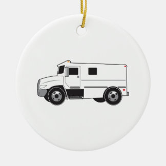 Armored Truck Ceramic Ornament