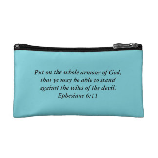 Armour of God Cosmetic Bag with Bible