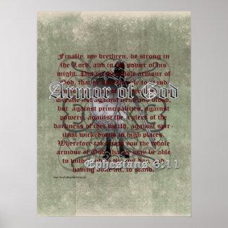 Armour of God, Ephesians 6:10-18, Christian Poster