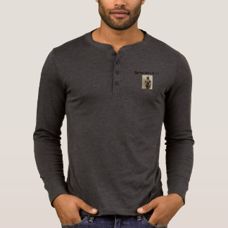 Armour of God Men's Henley Long Sleeve w/Armour T-Shirt