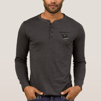 Armour of God Men's Henley Long Sleeve w/Bible T-Shirt
