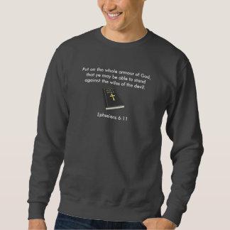 Armour of God Men's Sweatshirt w/Bible
