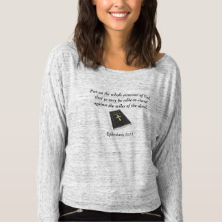 Armour of God Women's Off Shoulder w/Bible T-shirt