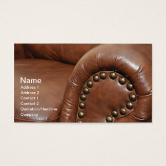 armrest and tacks for a leather chair business card