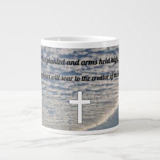Arms held high large coffee mug