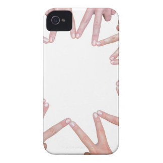 Arms of children  hands making star iPhone 4 cases