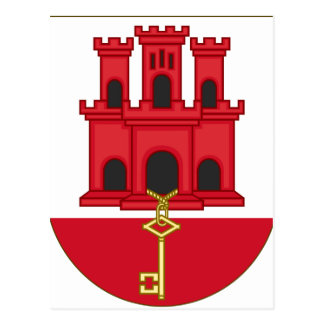 Arms_of_Gibraltar_(Variant) Postcard
