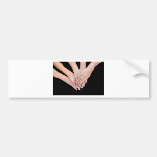 Arms of girls with hands over each other bumper sticker