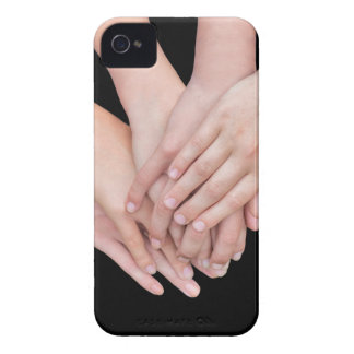 Arms of girls with hands over each other iPhone 4 covers