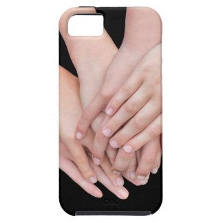 Arms of girls with hands over each other iPhone 5 cover