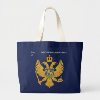 Arms of MONTENEGRO Large Tote Bag