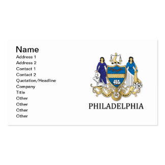 Arms of the city of Philadelphia Business Card