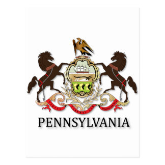 Arms of the state of Pennsylvania Postcard